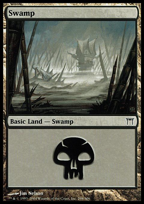 Swamp (298)  card from Champions of Kamigawa