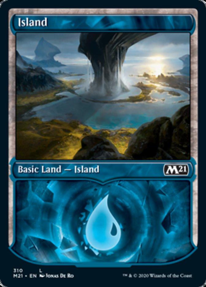 Island (Showcase) card from Core Set 2021