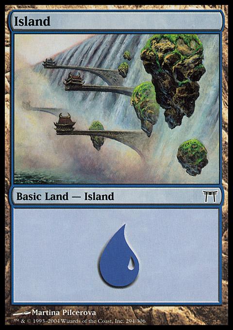 Island (294)  card from Champions of Kamigawa