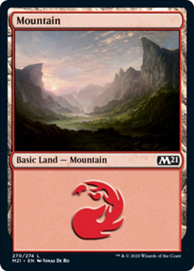 Mountain (270) card from Core Set 2021