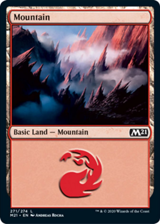 Mountain (271) card from Core Set 2021