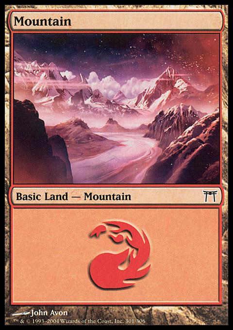 Mountain (301)  card from Champions of Kamigawa