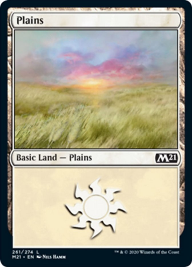 Plains (261) card from Core Set 2021