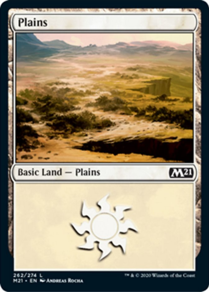 Plains (262) card from Core Set 2021