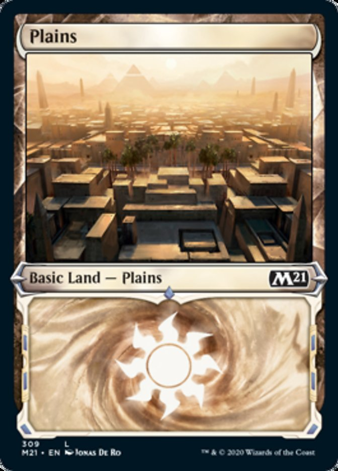 Plains (Showcase) card from Core Set 2021