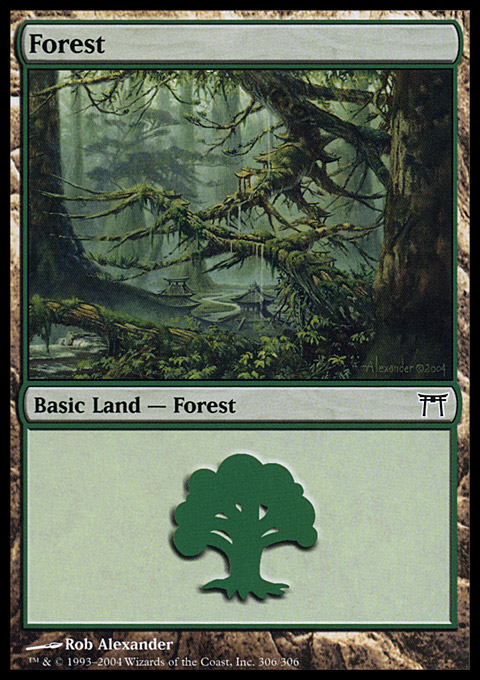 Forest (306) card from Champions of Kamigawa