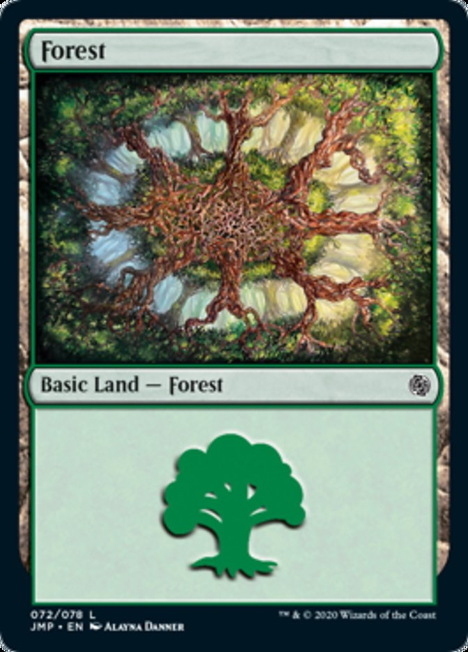 Forest (72) card from Jumpstart