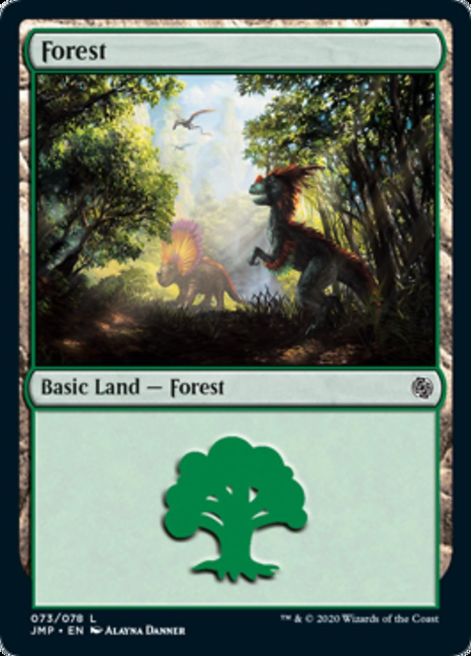 Forest (73) card from Jumpstart