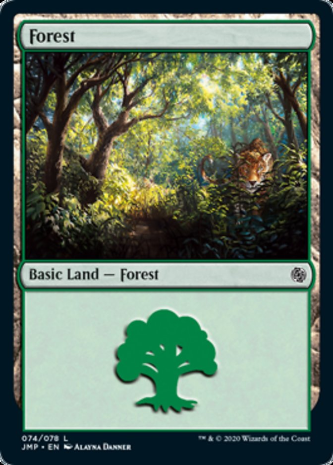 Forest (74) card from Jumpstart