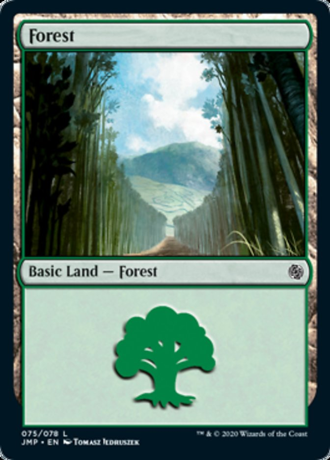 Forest (75) card from Jumpstart