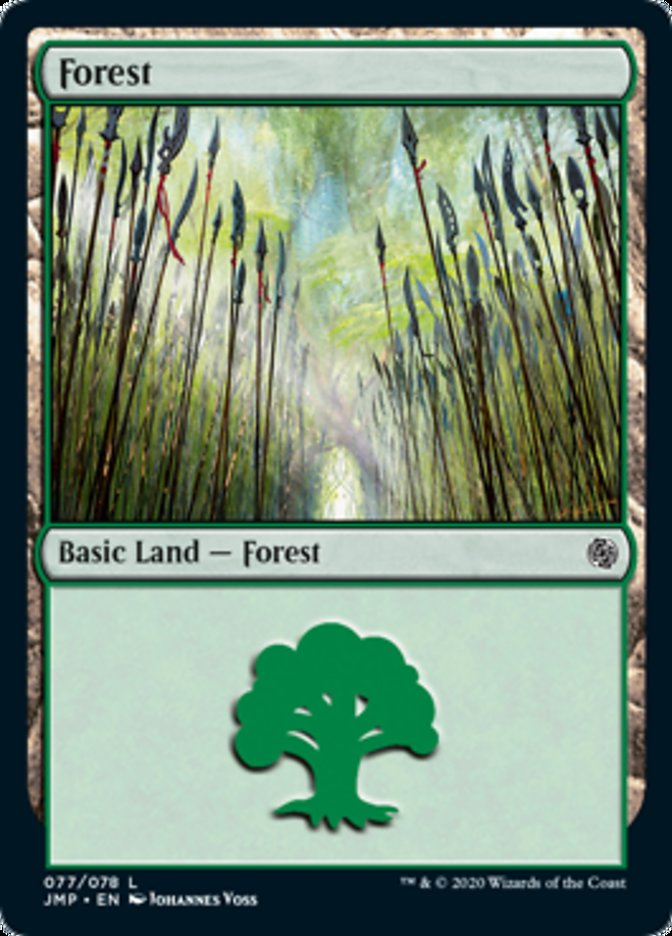 Forest (77) card from Jumpstart