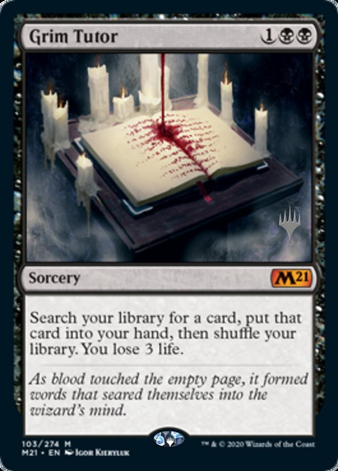 Grim Tutor card from Promo Pack: Core Set 2021