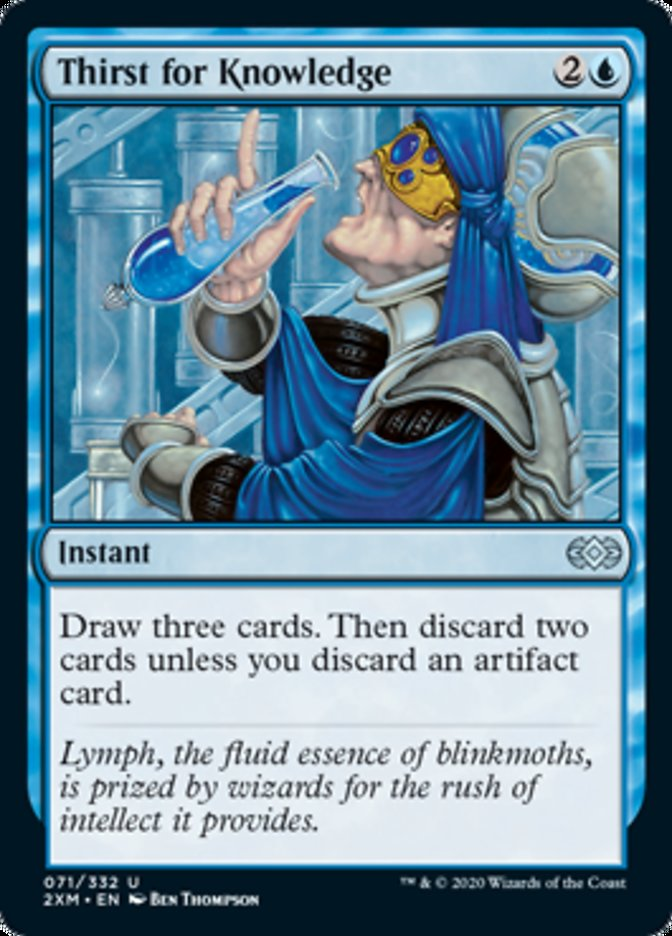 Thirst for Knowledge card from Double Masters