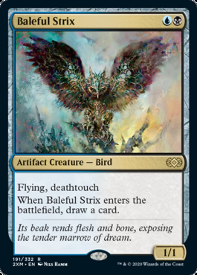 Baleful Strix card from Double Masters