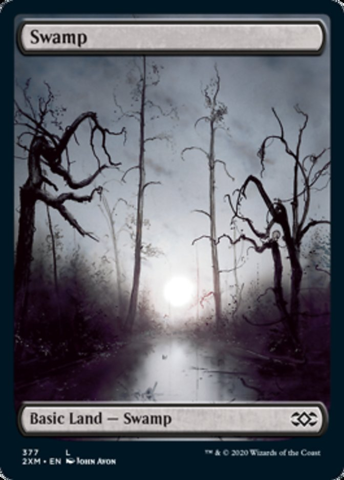 Swamp (377) card from Double Masters