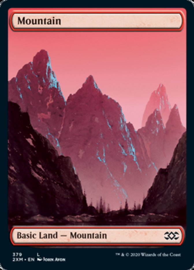 Mountain (379) card from Double Masters