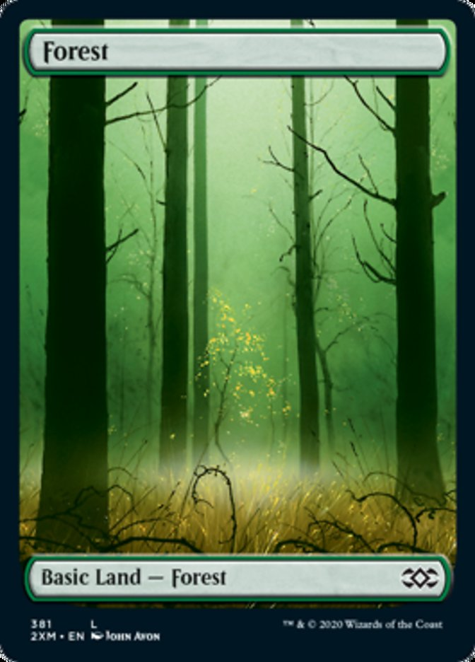 Forest (381) card from Double Masters