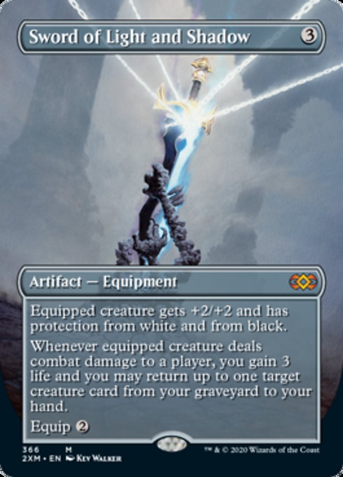 Sword of Light and Shadow (Borderless) card from Double Masters