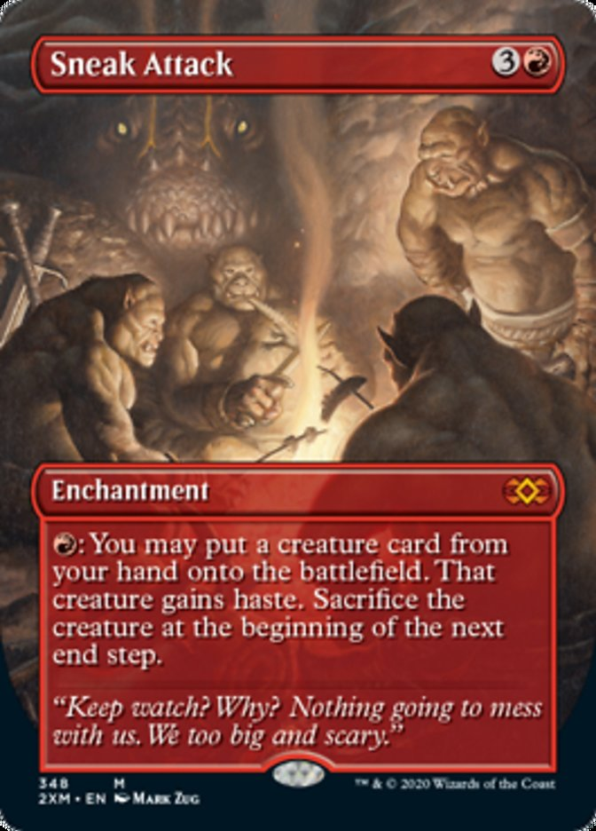 Sneak Attack (Borderless) card from Double Masters