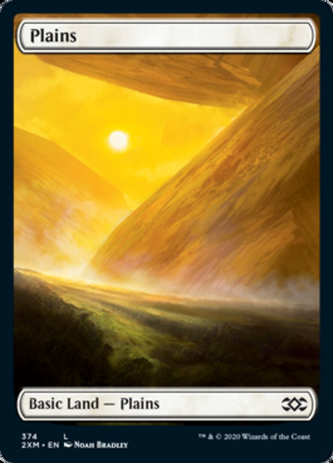 Plains (374) card from Double Masters