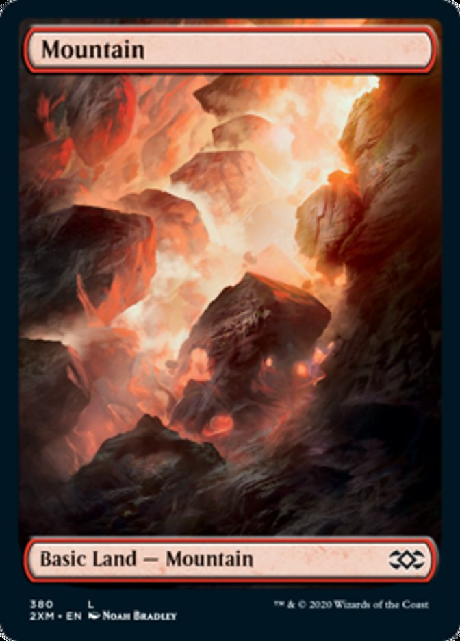 Mountain (380) card from Double Masters