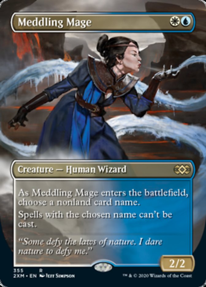 Meddling Mage (Borderless) card from Double Masters