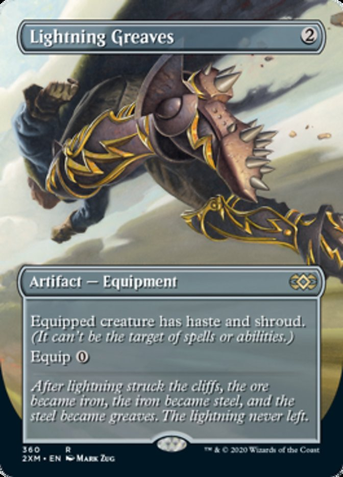 Lightning Greaves (Borderless) card from Double Masters