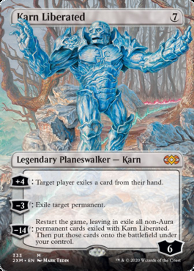 Karn Liberated (Borderless) card from Double Masters
