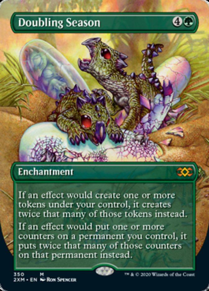 Doubling Season (Borderless) card from Double Masters