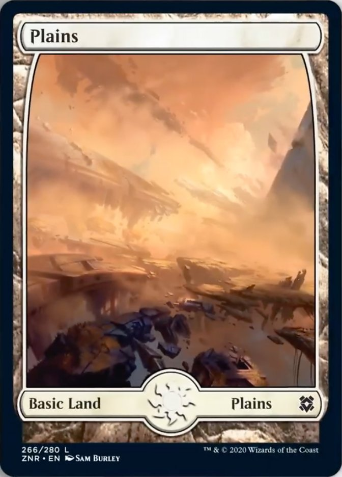 Plains (266) - Full Art card from Zendikar Rising