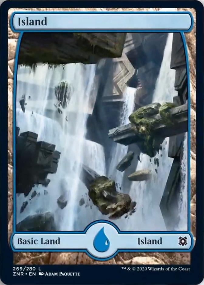 Island (269) - Full Art card from Zendikar Rising