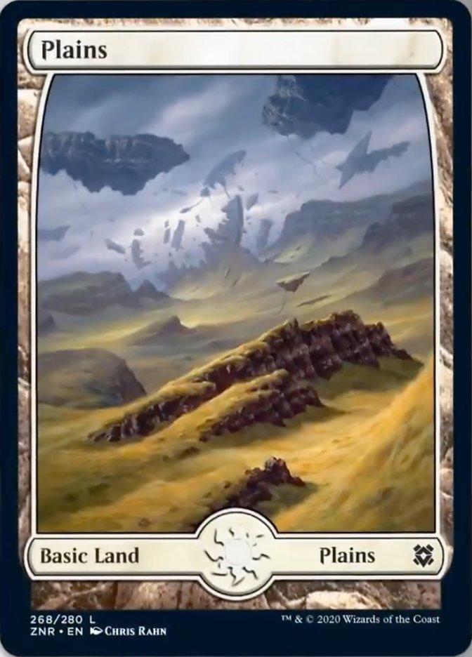 Plains (268) - Full Art card from Zendikar Rising