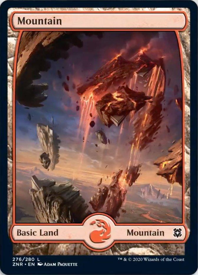 Mountain (276) - Full Art card from Zendikar Rising