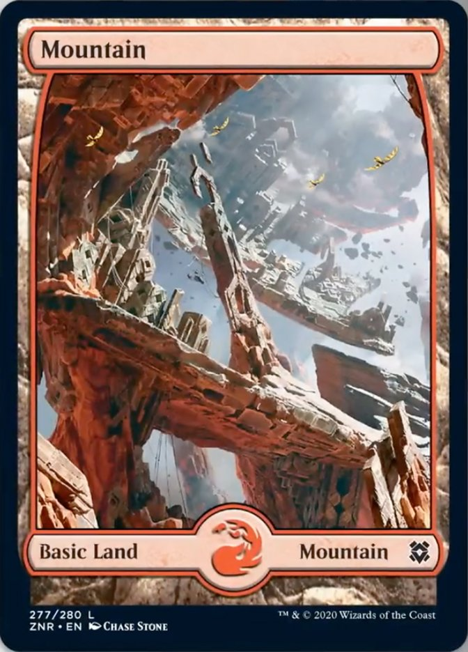 Mountain (277) - Full Art card from Zendikar Rising