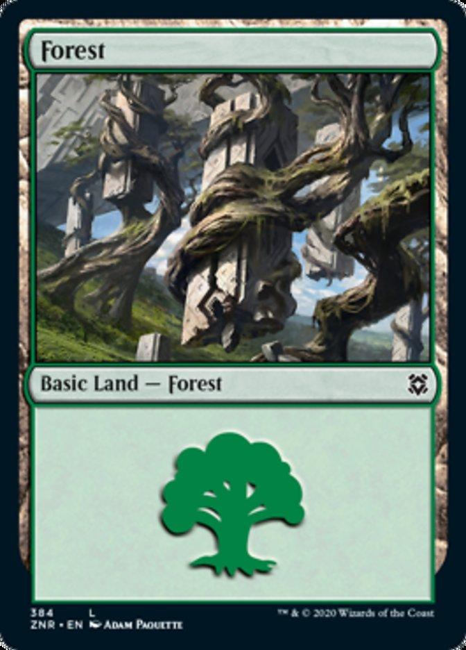 Forest card from Zendikar Rising