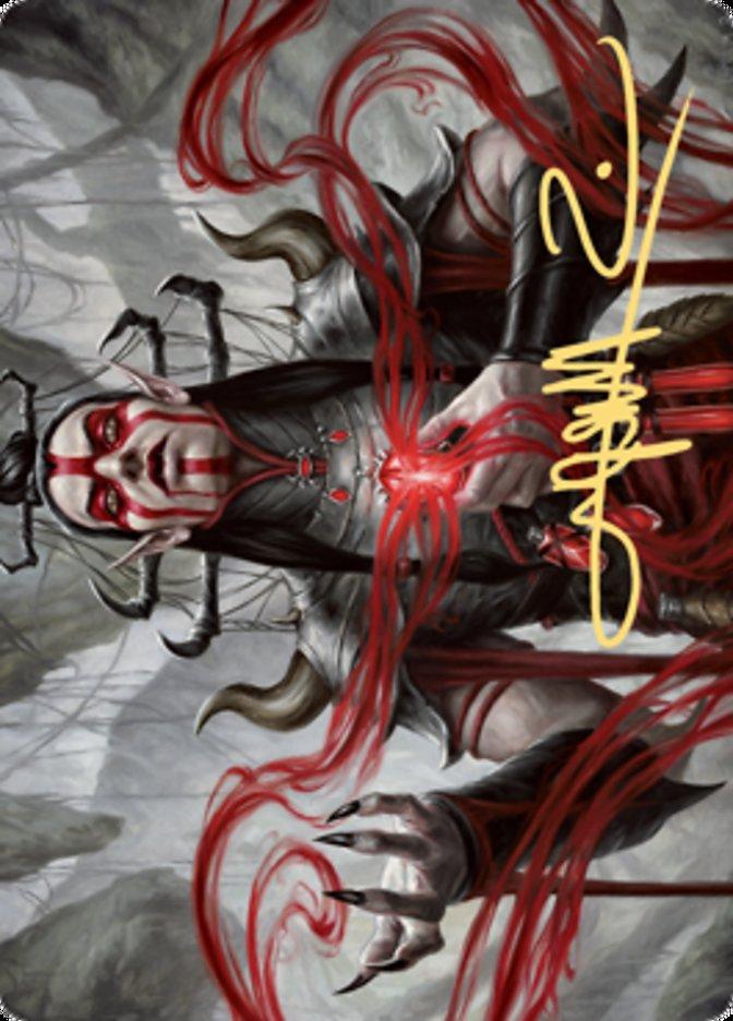 Malakir Blood-Priest Art Card (Gold-Stamped Signature)