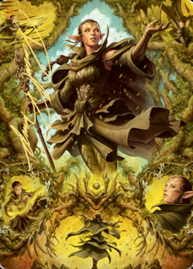 Nissa of Shadowed Boughs Art Card (6/81) (Gold-Stamped Signature)