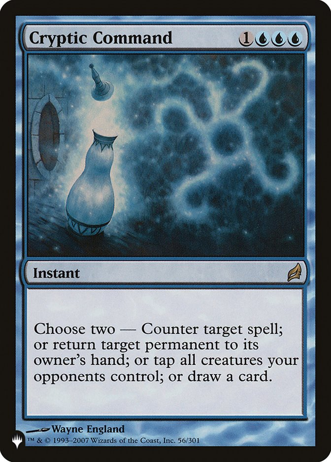 Cryptic Command card from The List