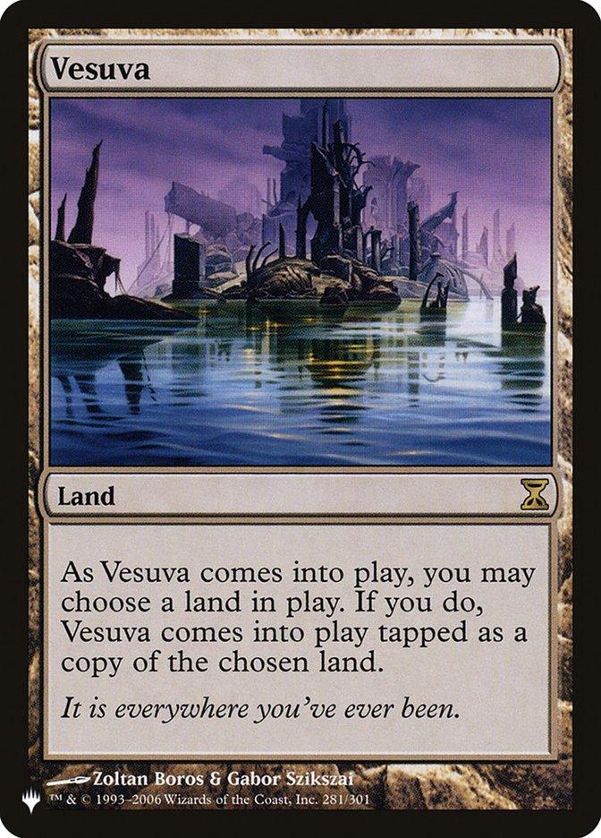 Vesuva card from The List