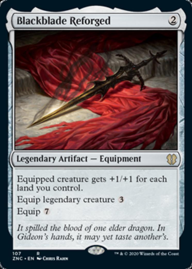 Blackblade Reforged card from Commander: Zendikar Rising