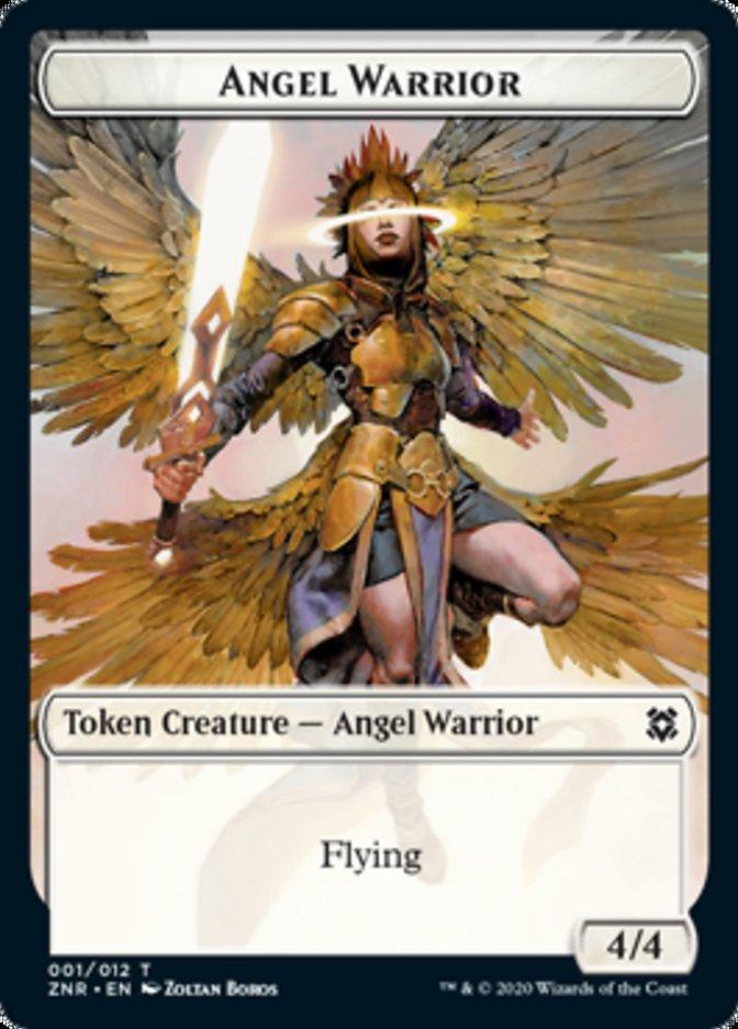 Angel Warrior // Goblin Construct Double-sided Token