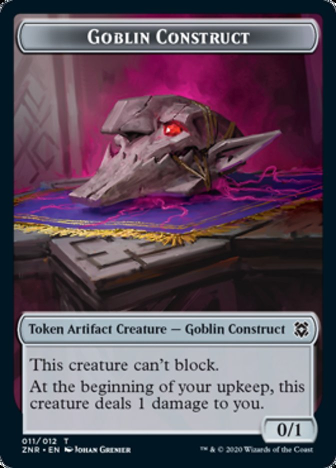 Goblin Construct // Kor Warrior Double-sided Token