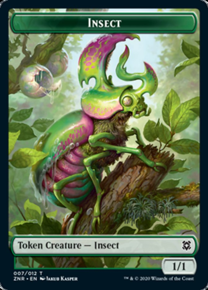 Insect // Kor Warrior Double-sided Token