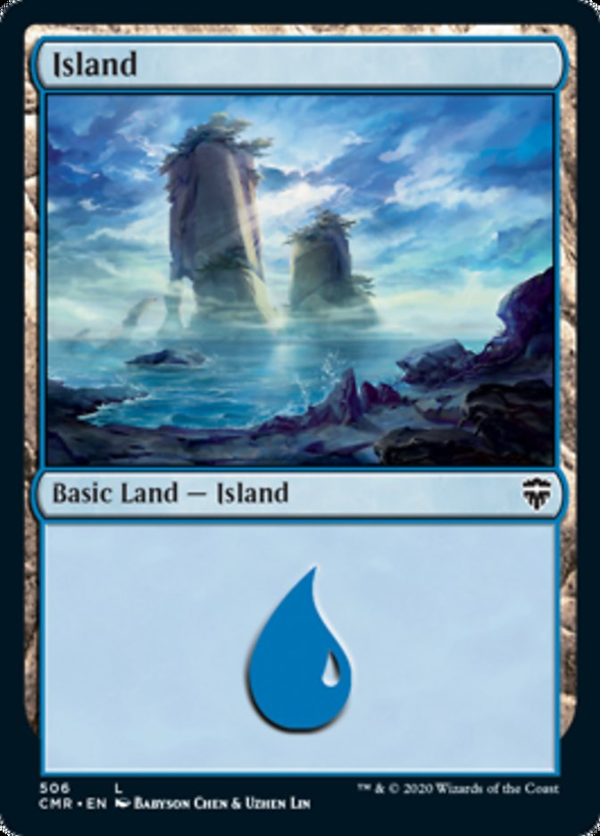 Island (506) card from Commander Legends