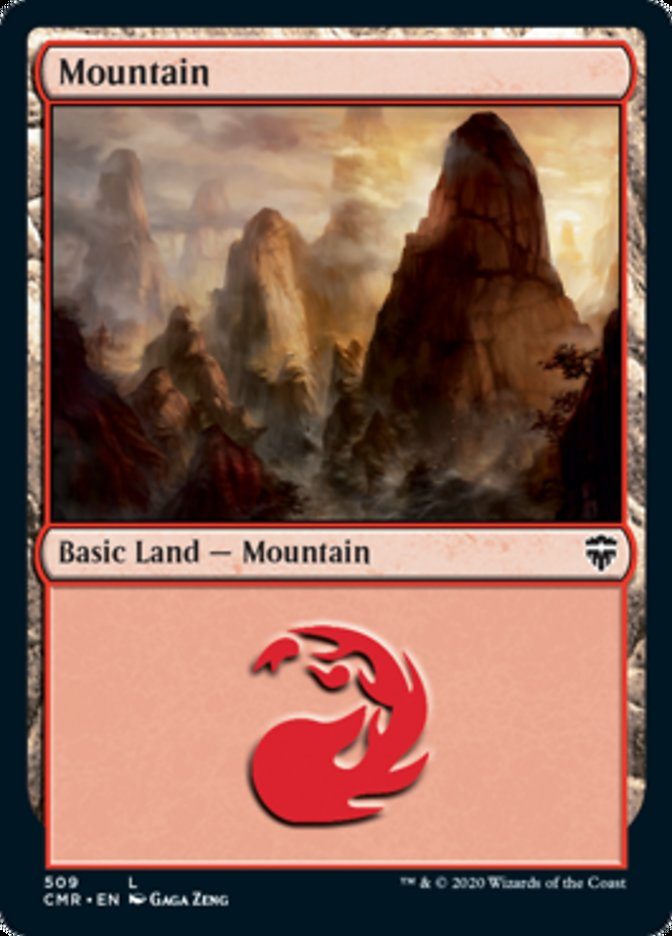 Mountain (509) card from Commander Legends