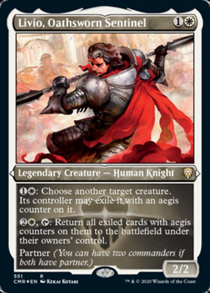 Livio, Oathsworn Sentinel (Foil Etched)