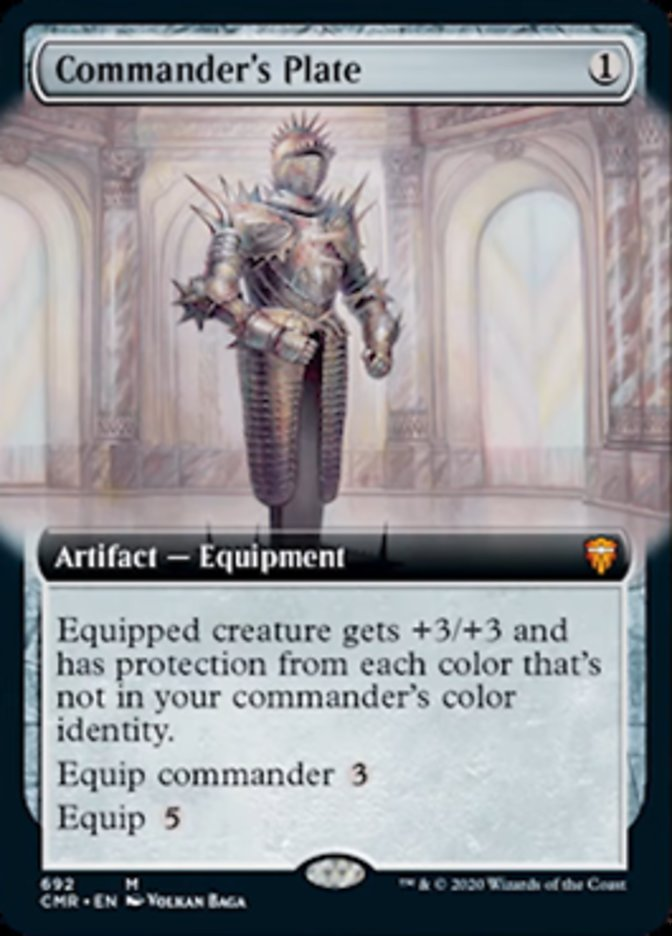 Commander's Plate (Extended Art)