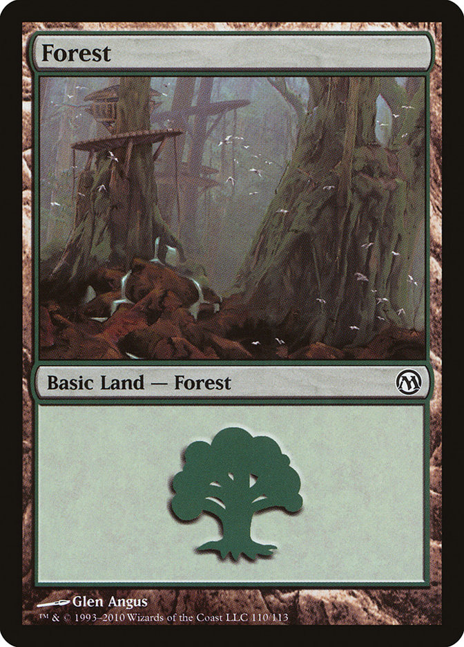 Forest (110) card from Duels of the Planeswalkers
