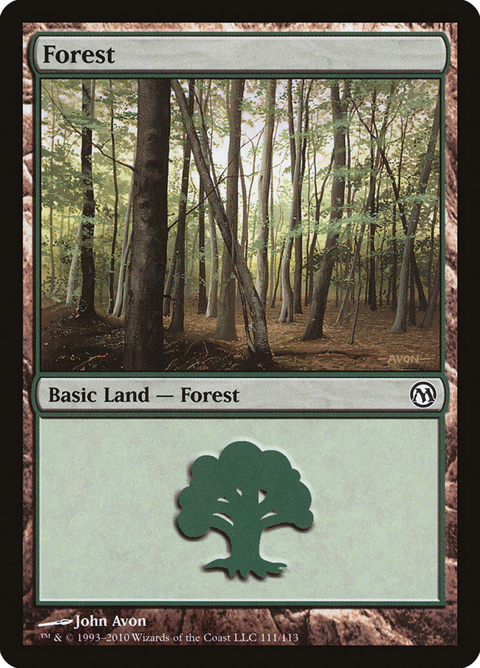 Forest (111) card from Duels of the Planeswalkers