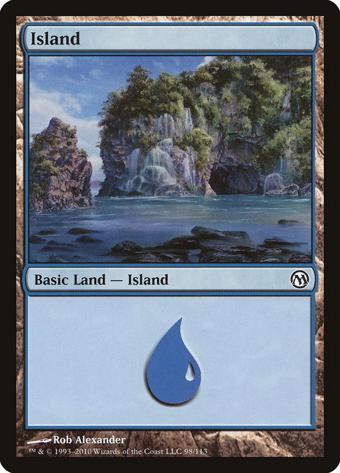 Island (98) card from Duels of the Planeswalkers